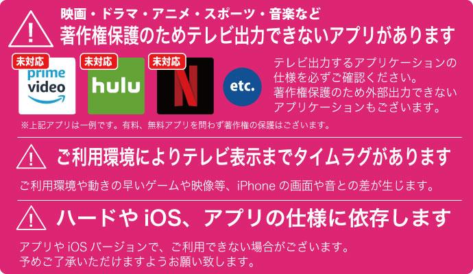 ケーブルをつないで、大画面テレビにiPhoneの画面を大画面テレビ